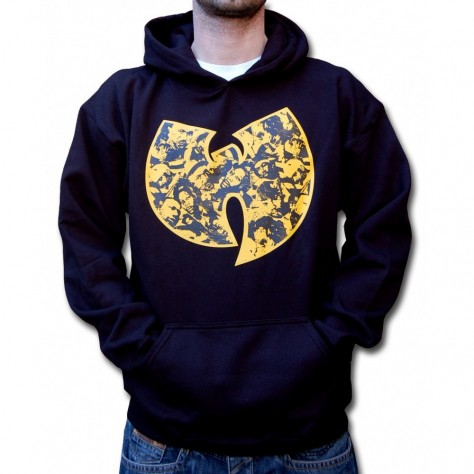 Wu Wear Faces Hooded - black